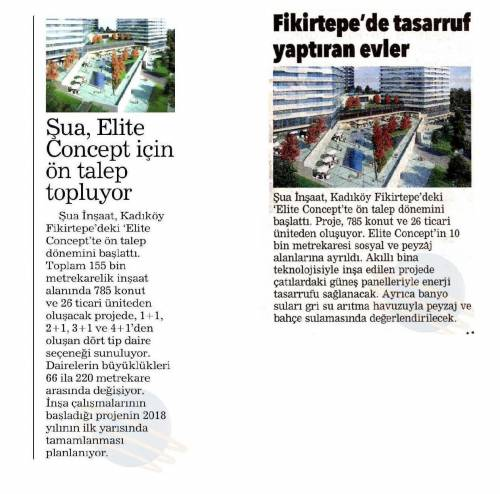 Şua İnşaat is Receiving Offers for Elite Concept